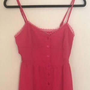 Kirra Womens Size Small Hot Pink Mini Tank Dress